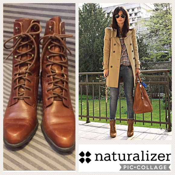 Naturalizer Laceup Heeled Boots